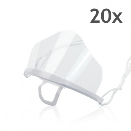 Transparent mouth mask High (white) - 20 pieces