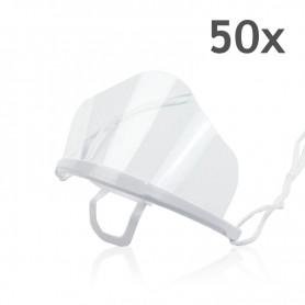 Transparent mouth mask High (white) - 50 pieces