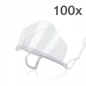 Transparent mouth mask High (white) - 100 pieces