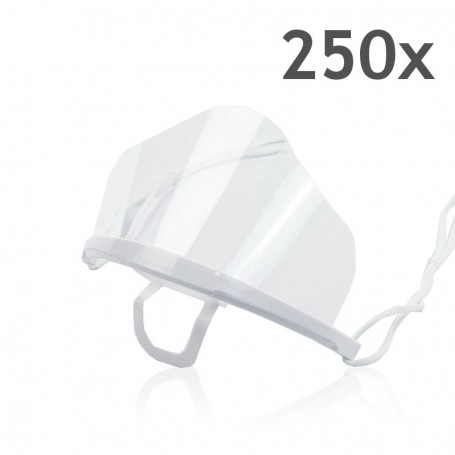 Transparent mouth mask High (white) - 250 pieces