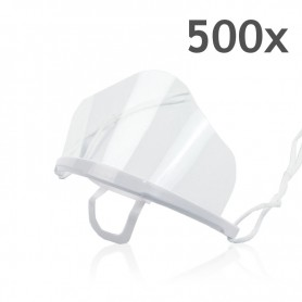 Transparent mouth mask High (white) - 500 pieces