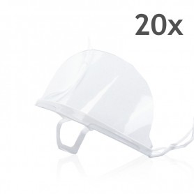 Transparent mouth mask (white) - 20 pieces