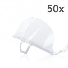 Transparent mouth mask (white) - 50 pieces