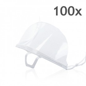 Transparent mouth mask (white) - 100 pieces