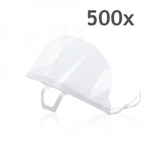 Transparent mouth mask (white) - 500 pieces