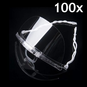 Transparent mouth mask (transparent) - 100 pieces