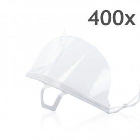 Transparent mouth mask (white) - 400 pieces